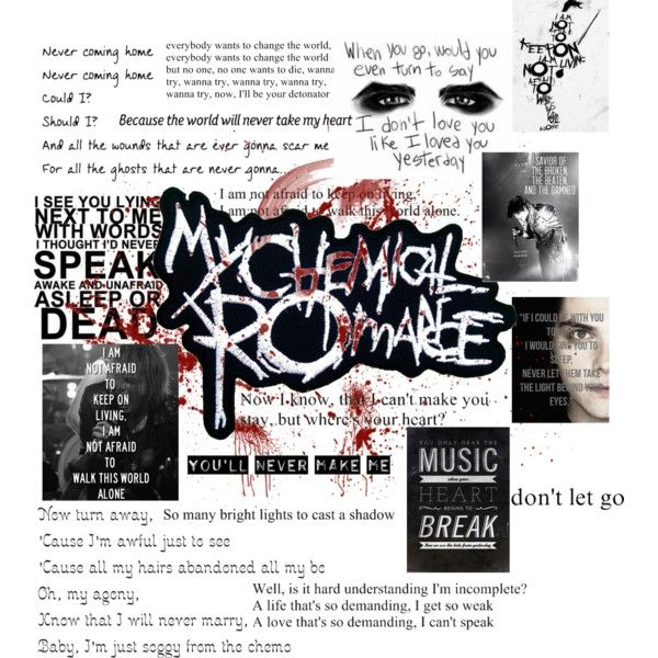 My Chemical Romance Edit! by big1dreamer on Polyvore featuring polyvore fashion style Nana'