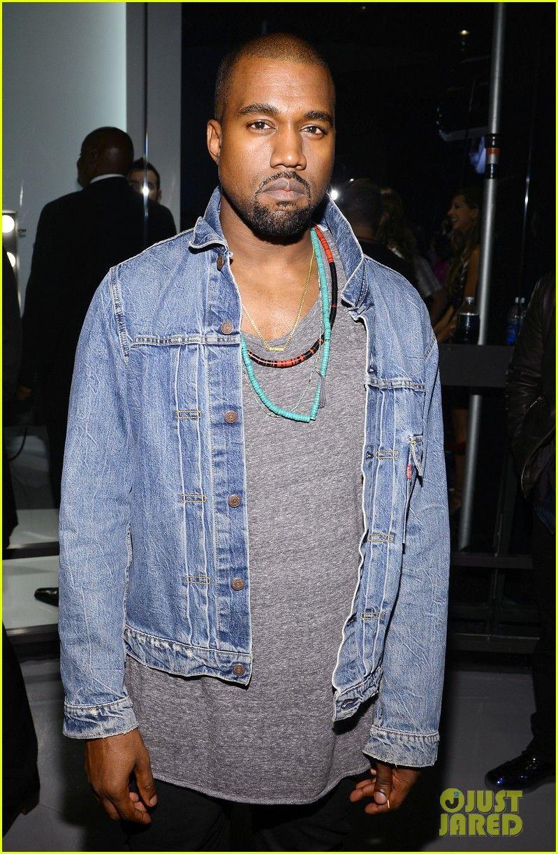 Kanye West Wearing A Levi S Trucker Jacket To The 2013 Vmas Kanye West Kanye West Style Kanye