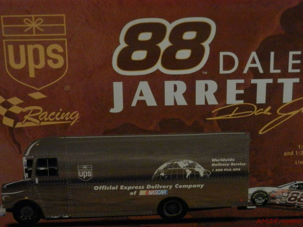 Dale Jarrett 88 UPS Nascar Truck and Race Car With Original Box Yates Racing #Action #Ford