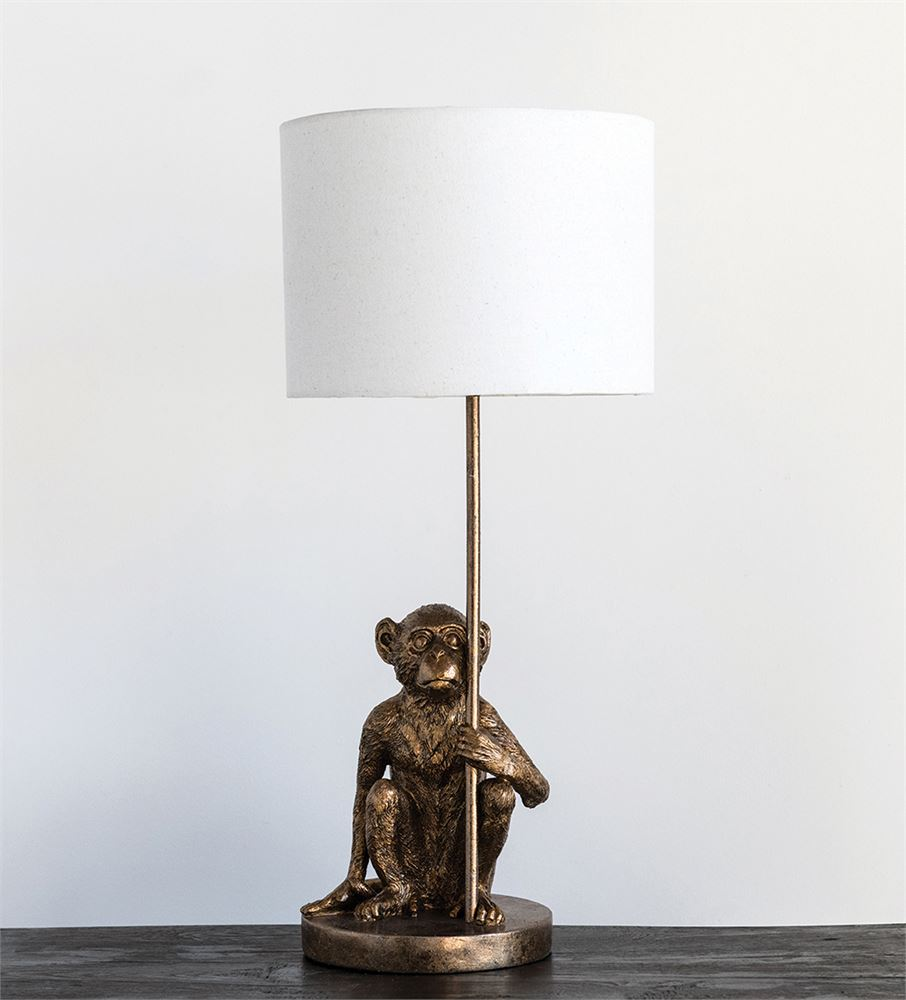 12 Round X 25 3 4 H Resin Monkey Table Lamp Antique Gold Finish Truck Ship 40 Watt Bulb Maximum Building My Dream Home In 2019 Table Lamp Antique Gold Table