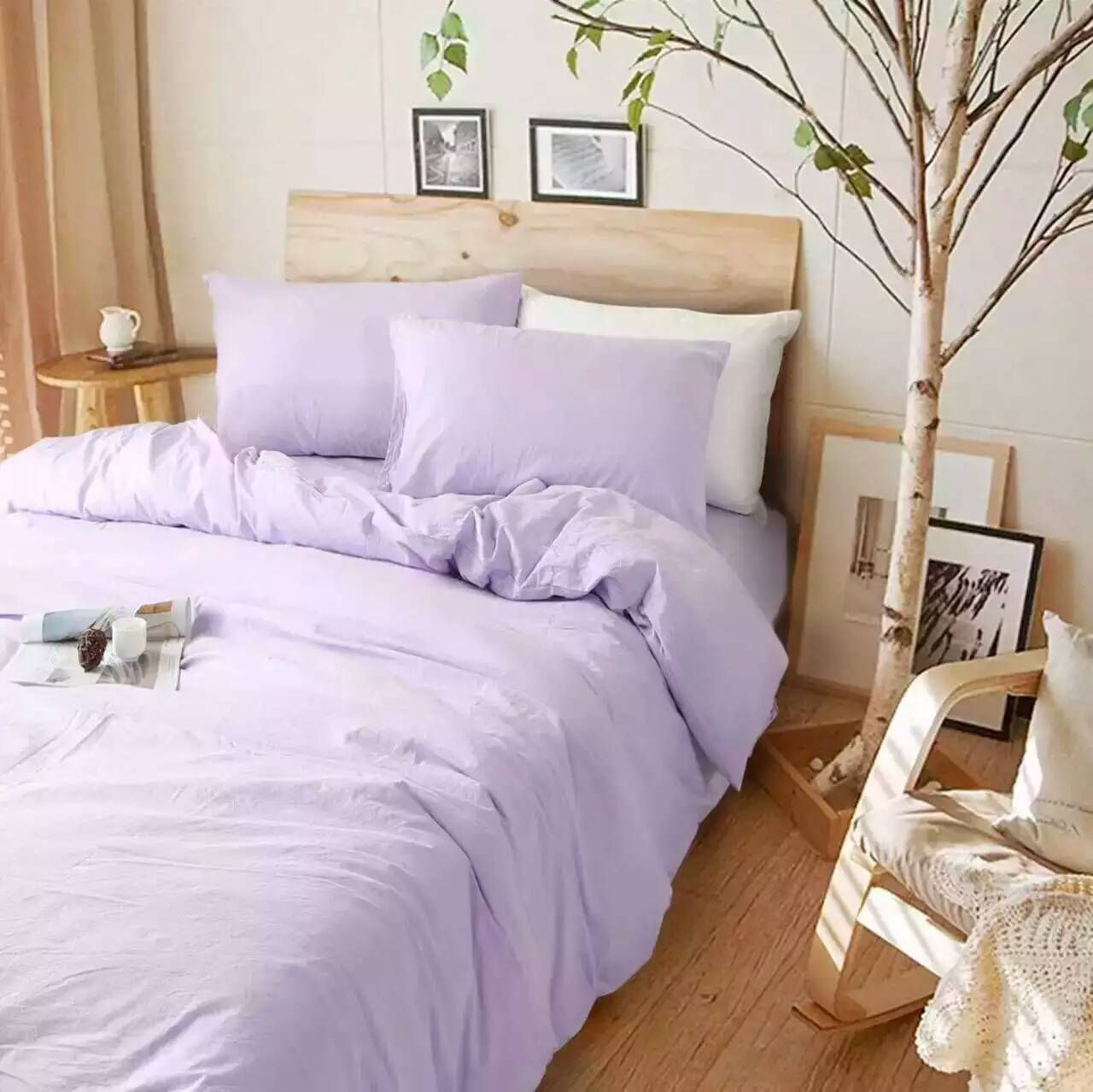 Lavender Purple Linen Duvet Cover With Images Bed Linens