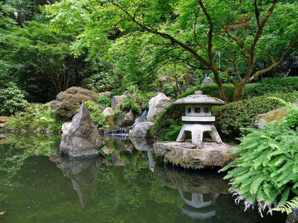 Japanese gardens waterfalls pond waterfall pictures for Japanese garden with koi pond