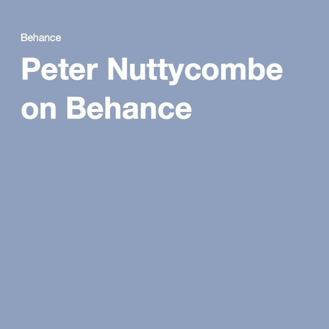 Peter Nuttycombe on Behance