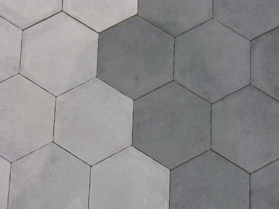 Carrelage hexagonal gris et blanc sol et mur 15x15 s rie for Carrelage hexagonal couleur