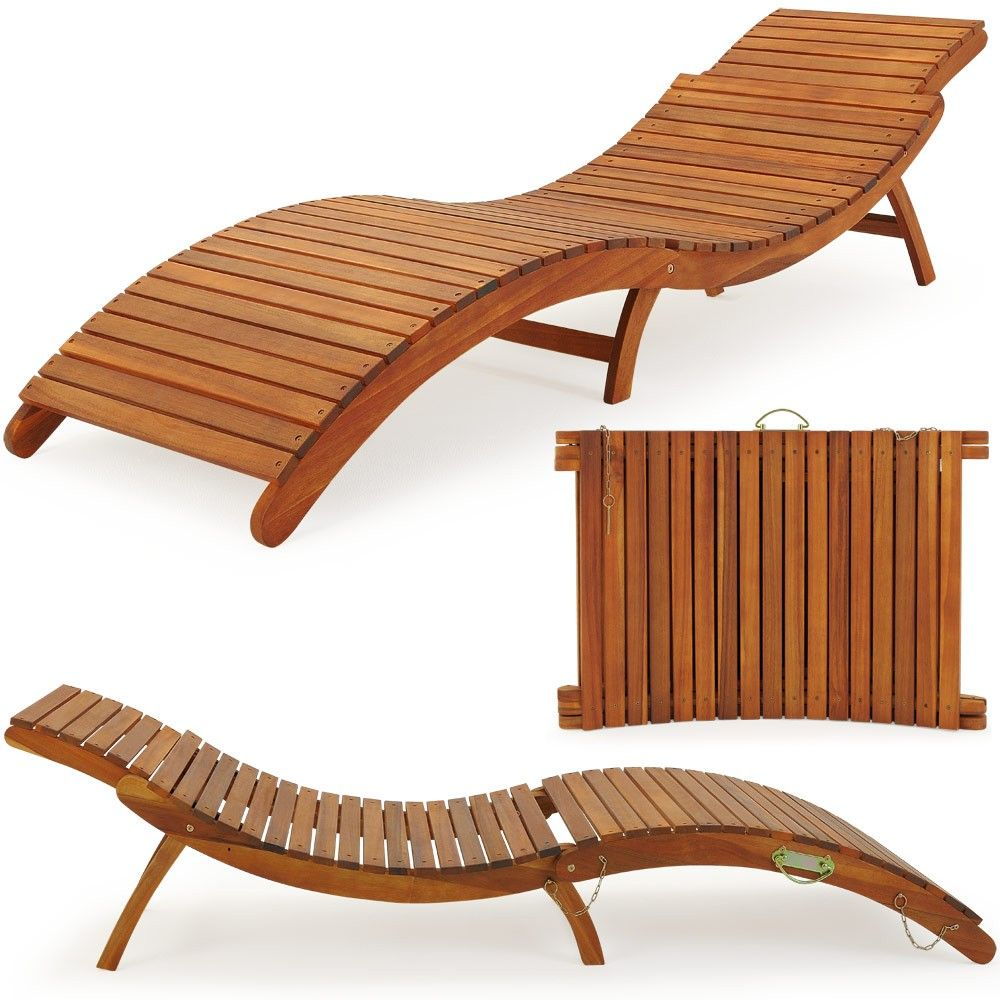 Gartenliege Liegestuhl Garten Liege Holz Holzliege