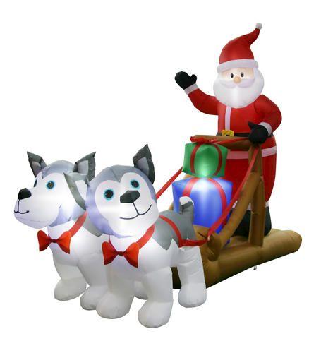 8 santa huskies inflatable at menards i want that christmas rh pinterest com