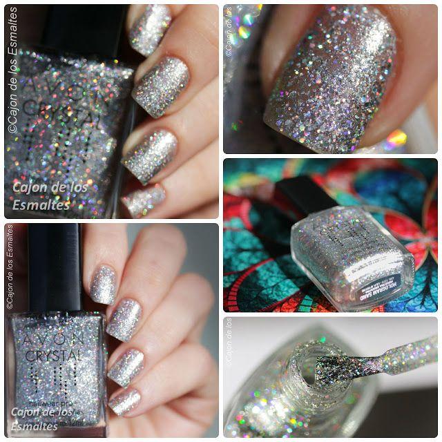 Esmalte de uñas Avon Crystal - Hologram Sand   Avon, Esmalte y Rosas ...