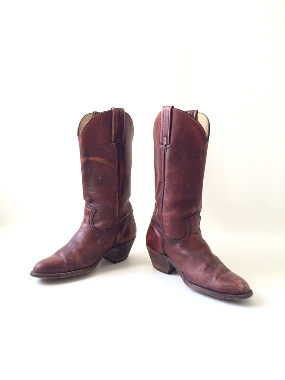 56efe428f02 Mens FRYE Brown Leather Cowboy Boots / Size 9.5 | Products | Frye ...