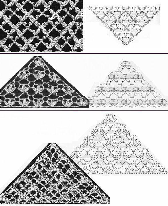 Patrones chales | Mantones crochet | Croché, Ganchillo y Chal