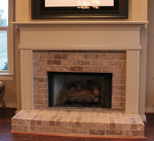 Painting White Fireplace