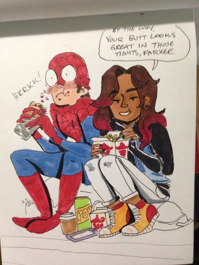 Zendaya and Tom  Peter and MJ #spideychelle #homecoming #Spiderman