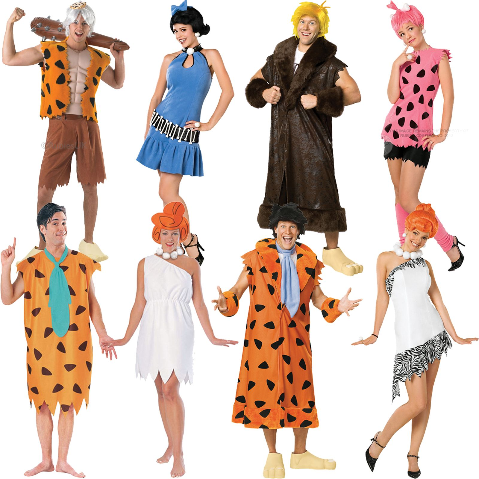 new licensed the flintstones fancy dress costume unisex ladies mens film bedrock - Halloween Flintstones