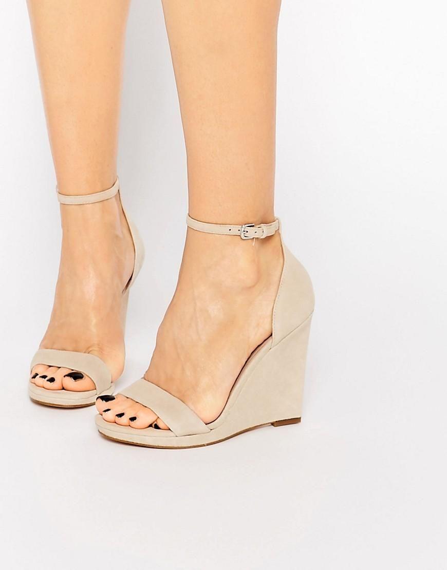 ALDO Elley Nude Wedge Sandals at asos.com