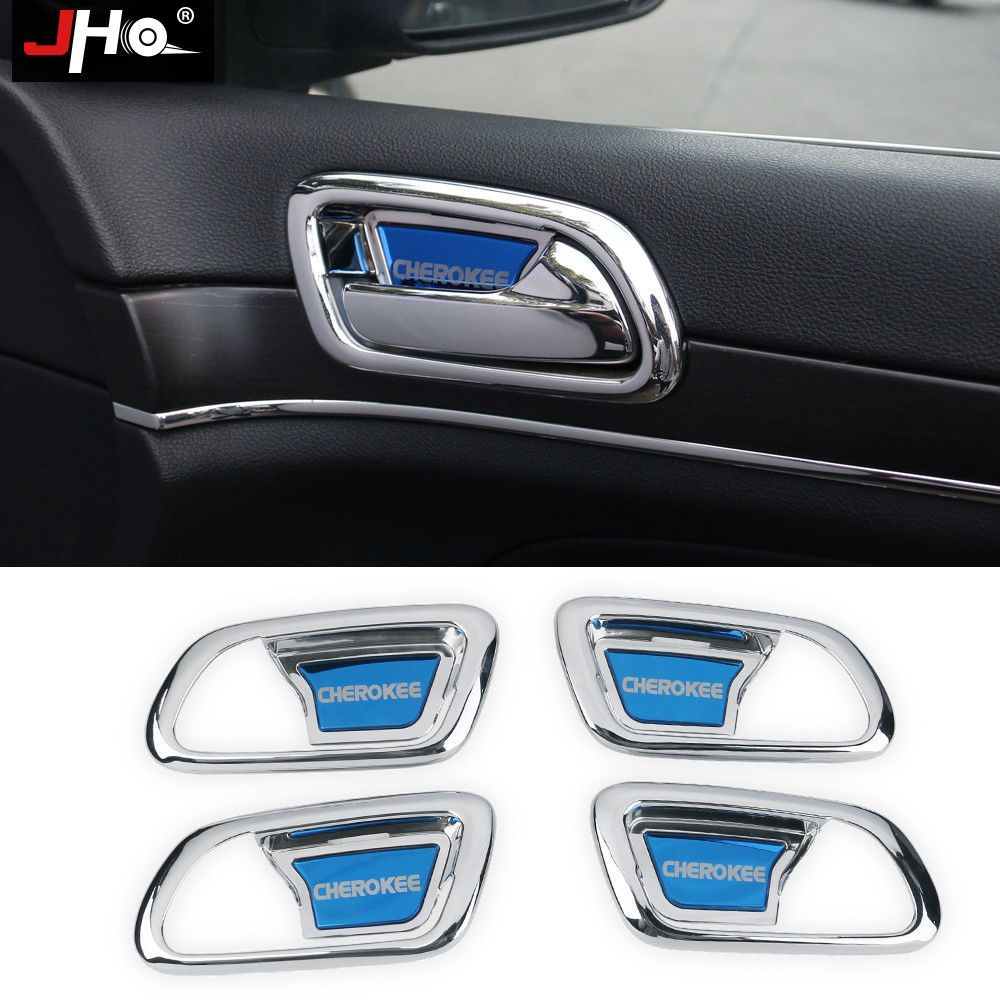 For Jeep Grand Cherokee 2014 2018 Chrome Inner Side Door Bowl Handle Cover Trim Jeep Grand Cherokee Jeep Grand Cherokee Accessories Jeep