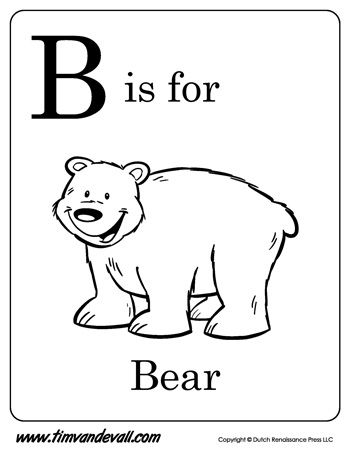 B Is For Bear Letter B Coloring Page Pdf Letter A Coloring Pages Alphabet Coloring Pages Letter B Coloring Pages