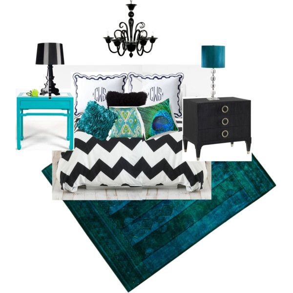 Best Black White And Turquoise Bedroom Turquoise Room Home 640 x 480