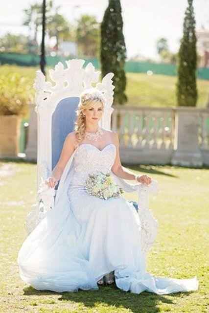 Disney S Frozen Wedding Inspiration With Elsa Dress