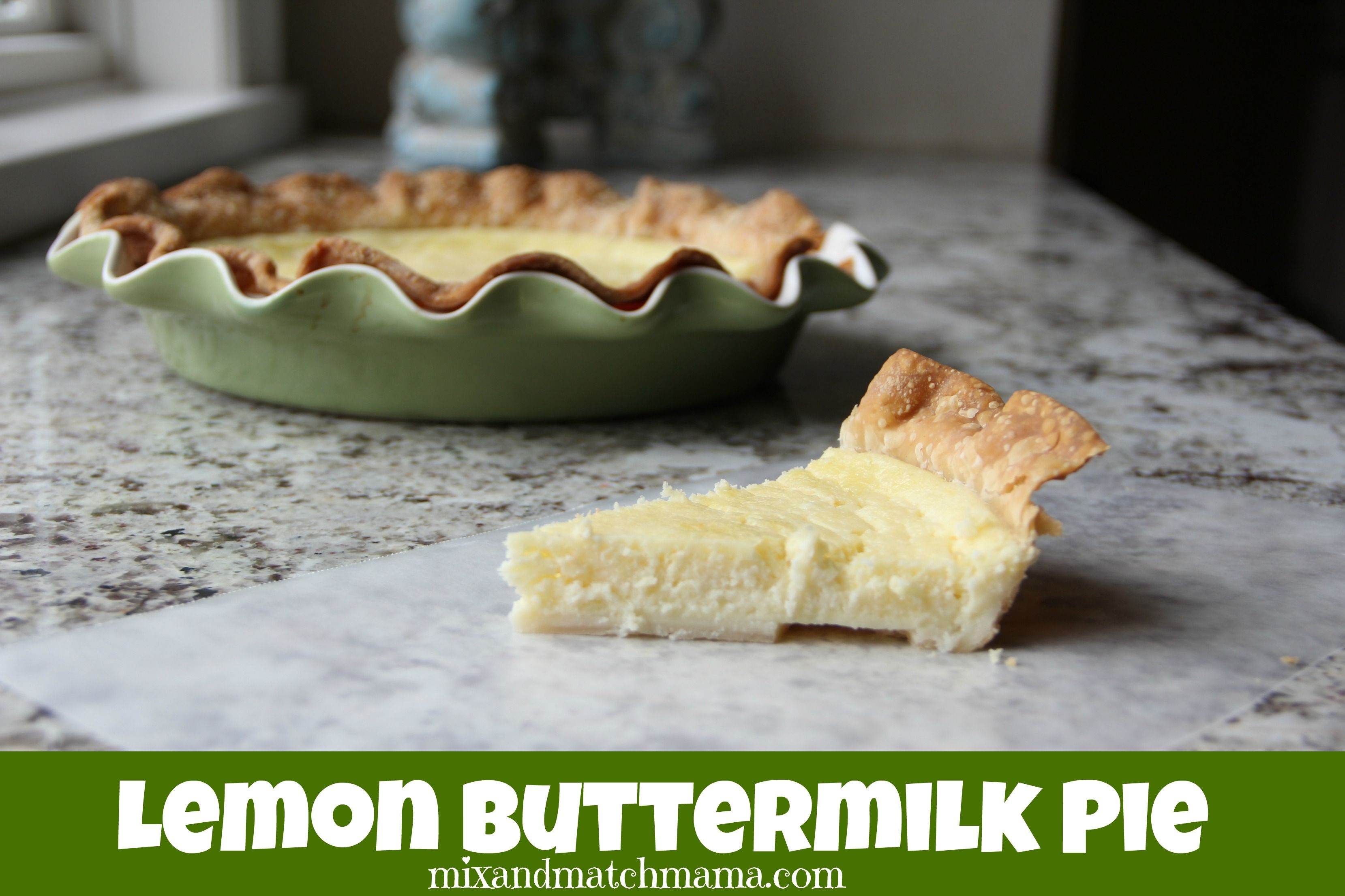 Lemon Buttermilk Pie Recipe Buttermilk Pie Food Pie Recipes