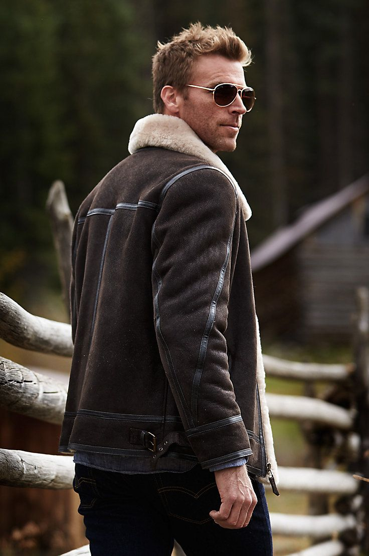 Brody Sheepskin Bomber Jacket Mens Winter Fashion Mens Fashion Rugged Mens Fashion Edgy [ 1109 x 736 Pixel ]