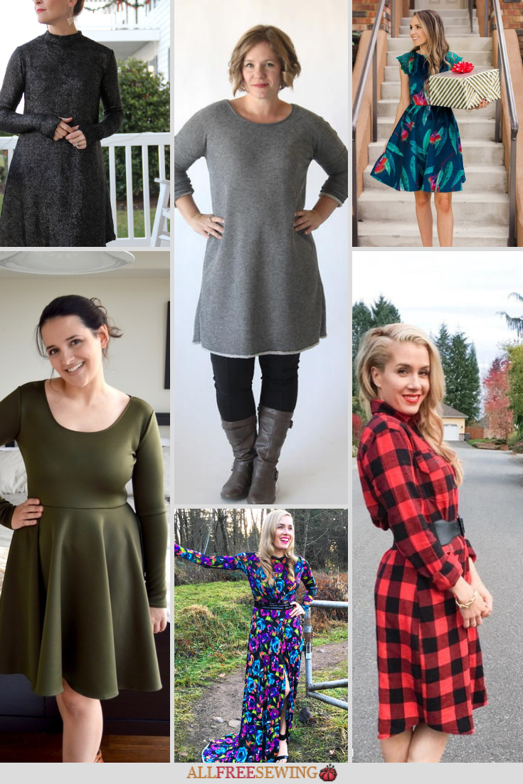 21 Gorgeous Winter Dress Patterns Diy Winter Clothes Sewing Clothing Refashion Knitted Winter Dress