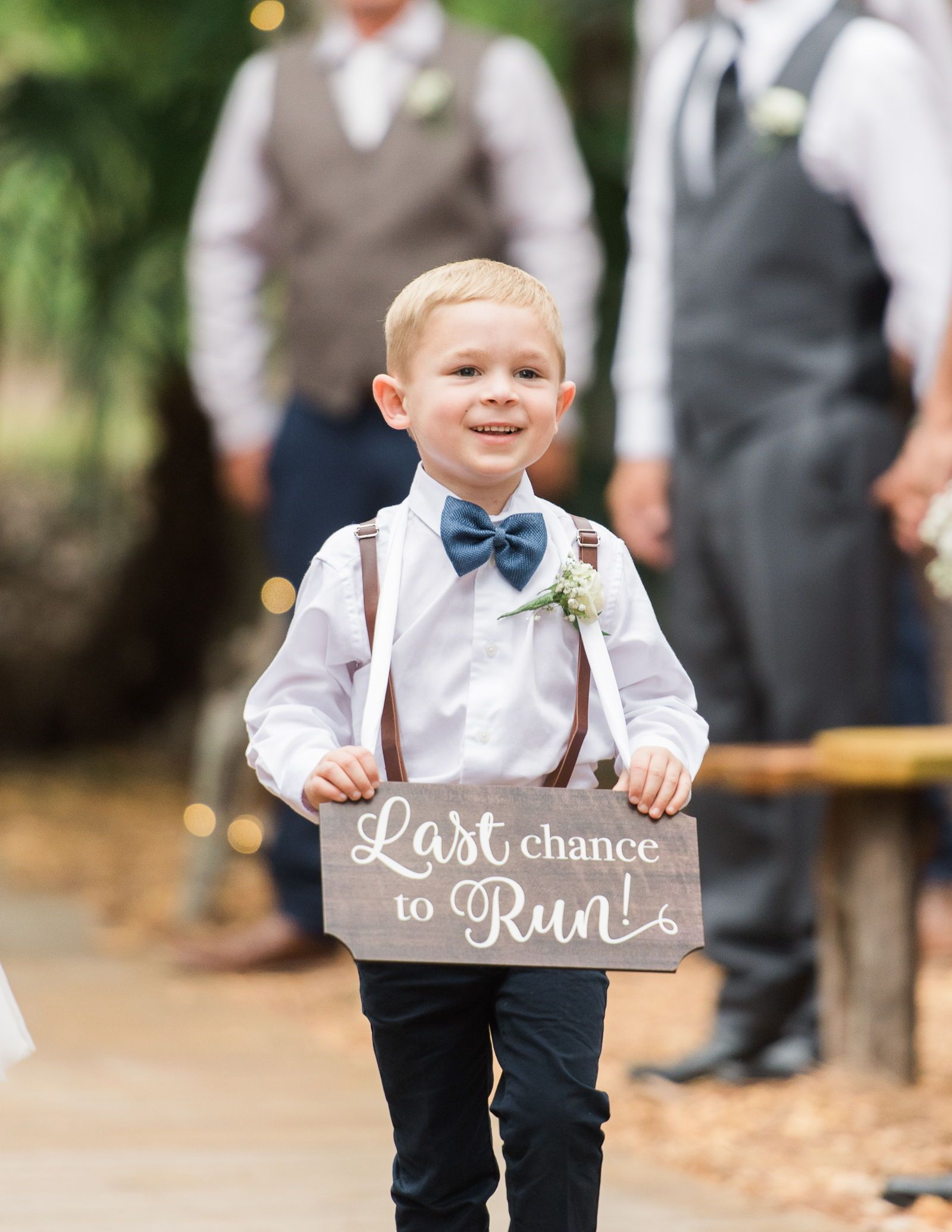 Ring Bearer Sign For Wedding Last Chance To Run Wooden Sign For Ceremony Decorations Wooden Rustic Chic Item Wlc240 Ring Bearer Wedding Wedding Ceremony Wedding Photo Props
