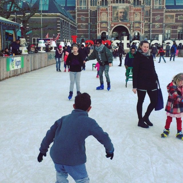 These kids got nothin on me... Amsterdam skate rink.