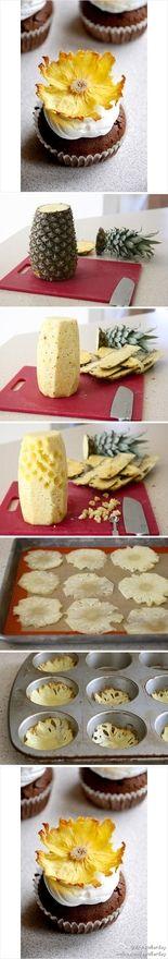 Edible Pineapple flowers....