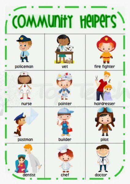 community helpers writing activity kindergarten worksheets