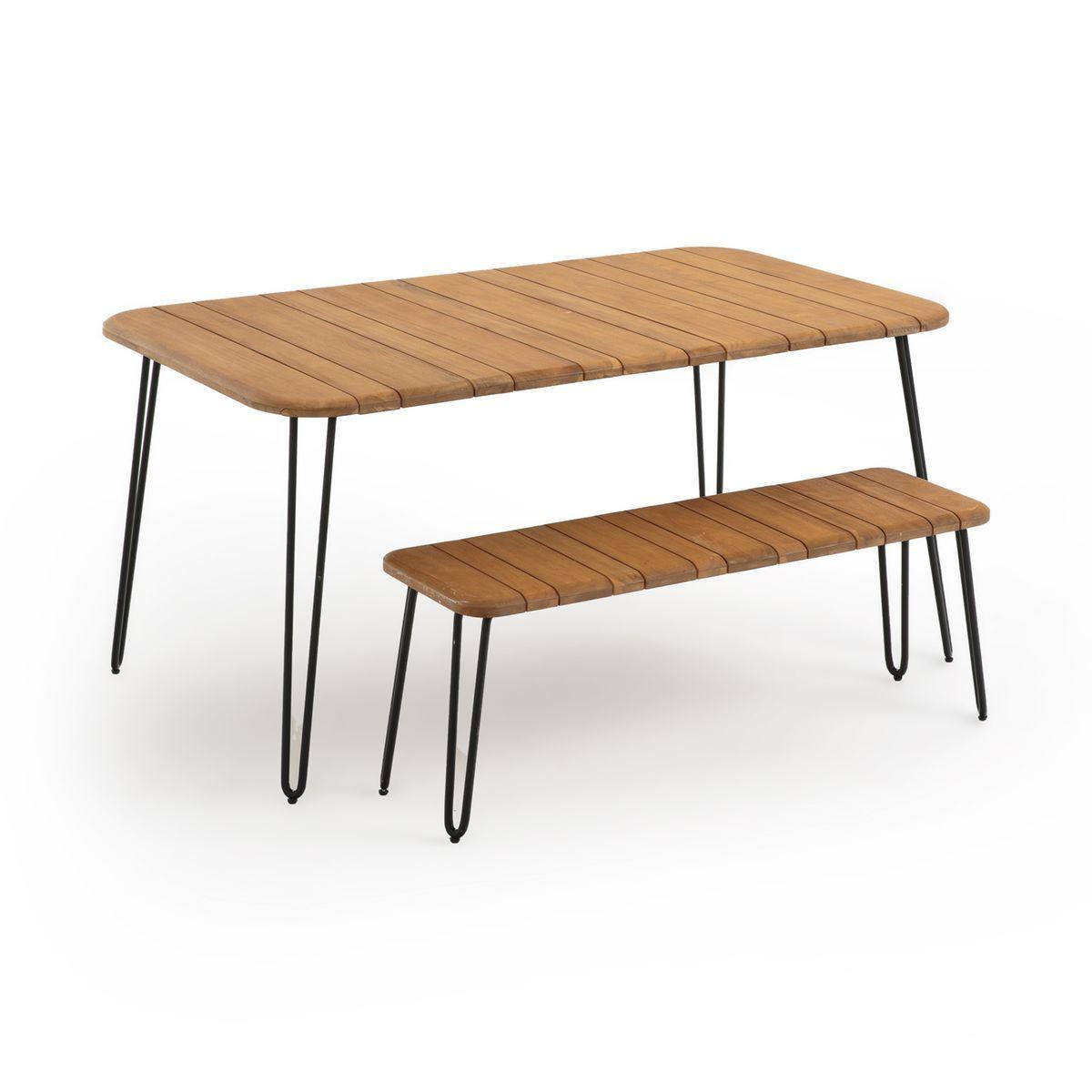 Table Pliante Spritz Acacia 6 Personnes Taille Taille Unique
