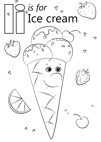 Click to see printable version of Letter I is for Ice