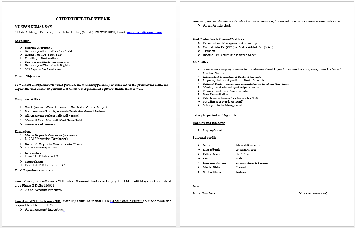 Senior Accountant Resume Accountant resume, Resume