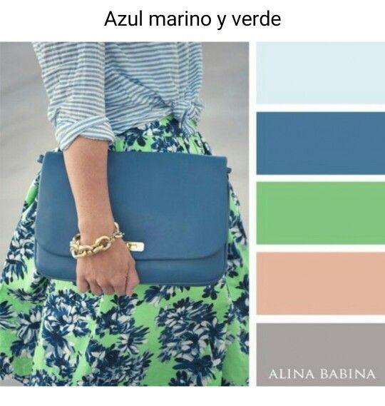 Azul Marino Y Verde Colour Combinations Fashion Color Combinations Color Combinations For Clothes