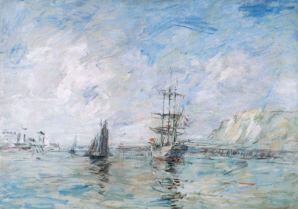 Eugène Boudin, Le Port de Dieppe (vers 1896)