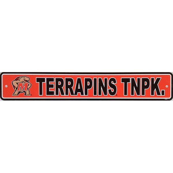 Maryland Terrapins Street Sign - 4 Maryland Terrapins FEAR THE - ncaa home office