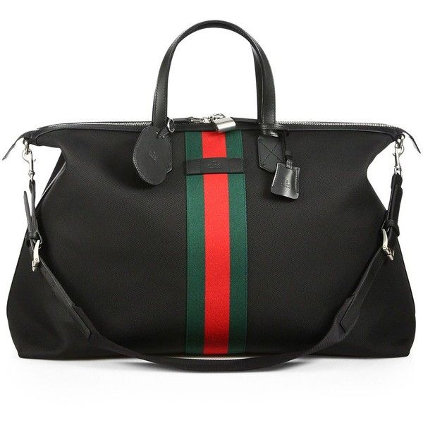 e0ae761c7 Gucci Techno Canvas Duffel Carry-On Bag ($1,350) ❤ liked on Polyvore  featuring