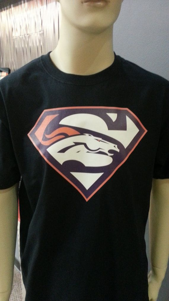 29595bb5 Denver Broncos Superman Super Bowl T-shirt for men | UNI DESIGNS ...