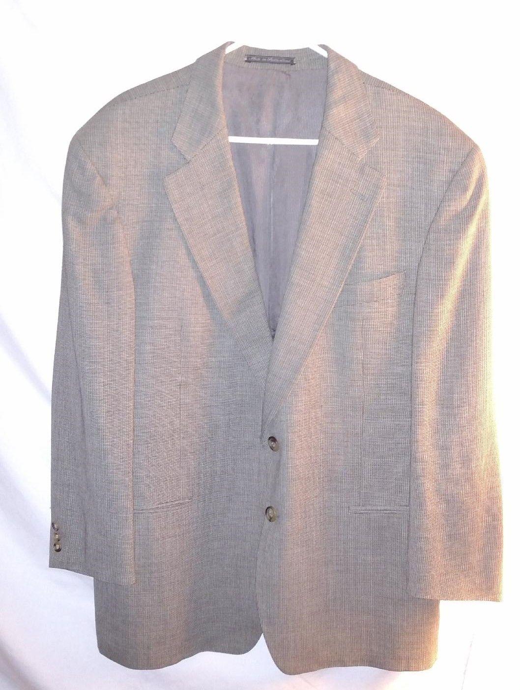 0010ef728a Ermenegildo Zegna Soft Mens Multi Color 100% Wool Sport Coat US 46R ...