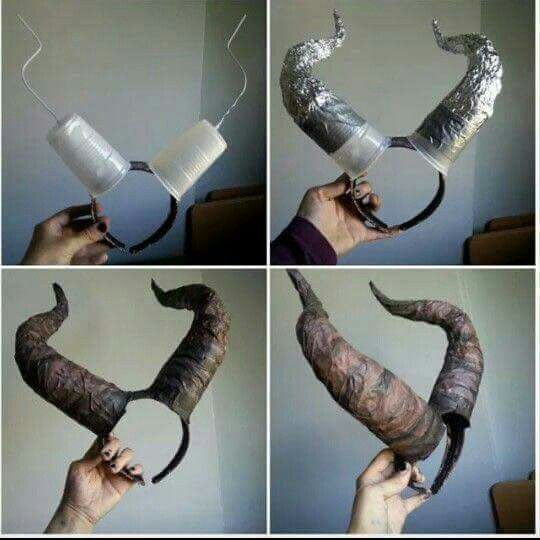 Easy Diy Maleficent Horns Eira Source Unknown