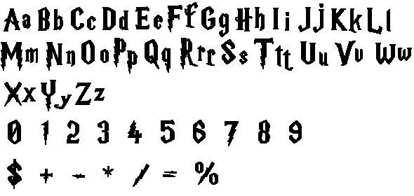 harry potter alphabet free cross stitch pattern
