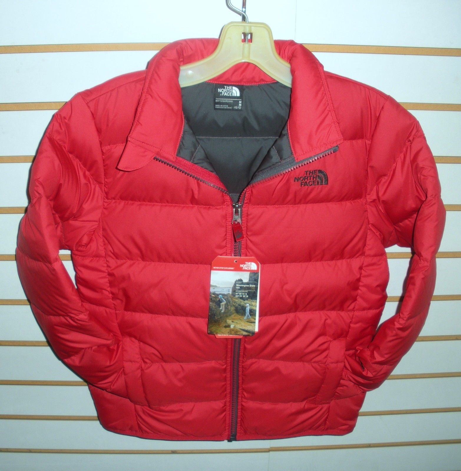 Outerwear 51933  The North Face Boys Andes Down Winter Jacket -Chq6- Tnf  Red - S 6334a372d