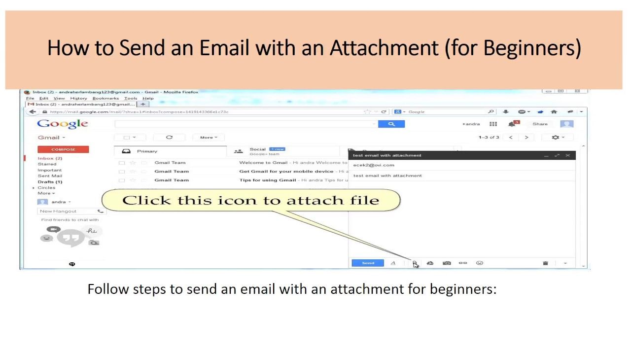 How to Send an Email with an Attachment (for Beginners