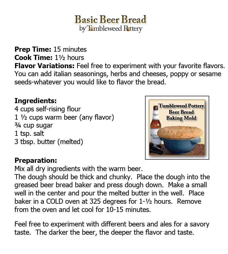 Beer Bread Recipe | Beer bread, Beer bread recipe ...