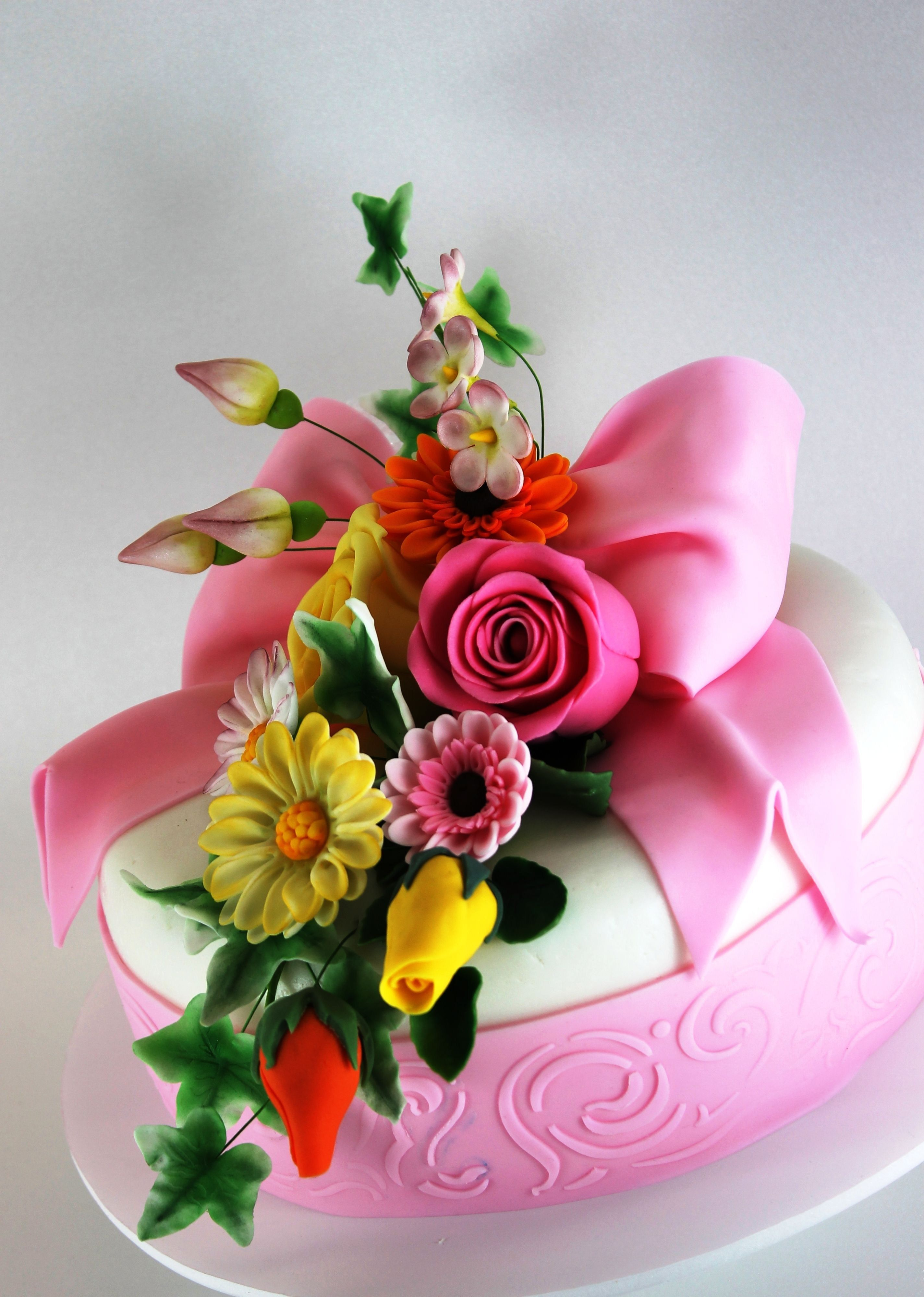 32 great image of happy birthday cake and flowers