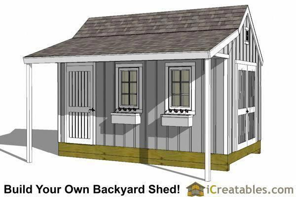 Garden Shed Plans Storage Shed Plans Shed With Porch Diy Shed Plans