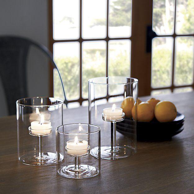Elsa Medium Glass Tealight Candle Holder Reviews Crate And Barrel Tealight Candle Holders Glass Tealight Candle Holders Glass Candle Glass tea light candle holder