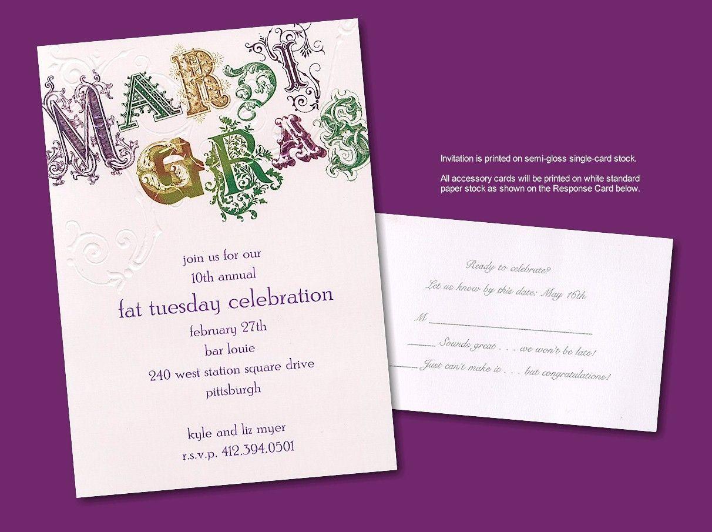 Mardi gras prom invitation auction ideas pinterest mardi gras prom invitation monicamarmolfo Choice Image