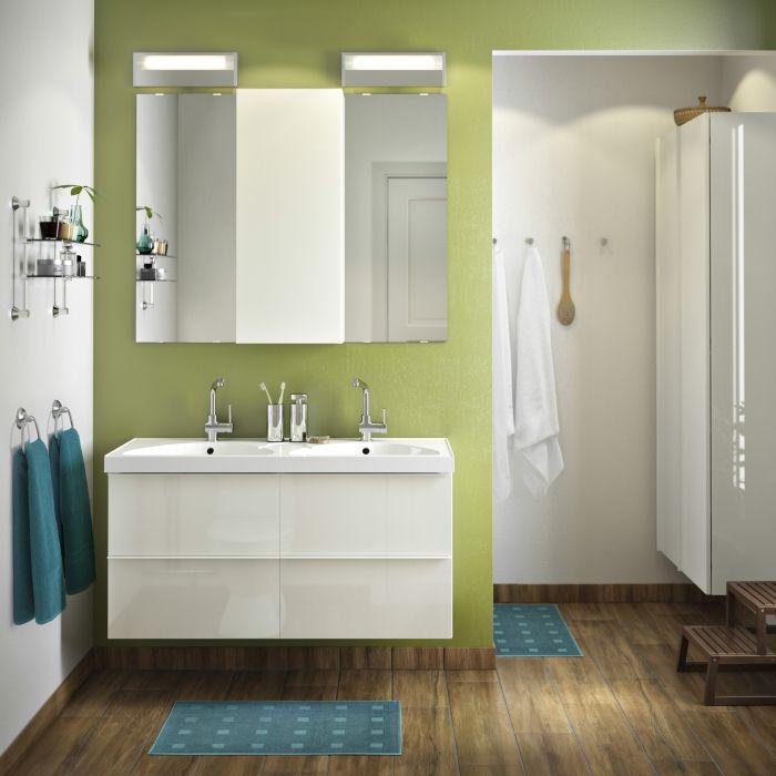 Le lavabo double GODMORGON, économie de temps et du0027espace - ikea meuble salle de bain godmorgon
