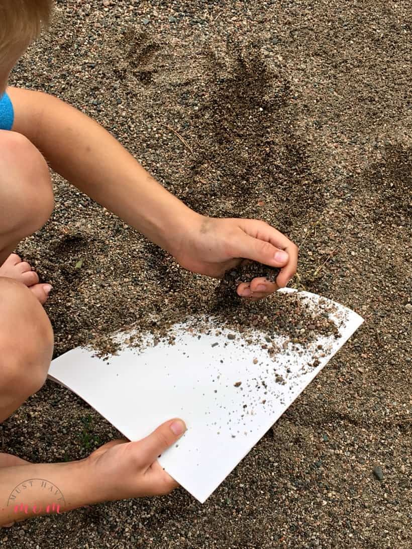 Add sand to paper Painting activities, Sand painting