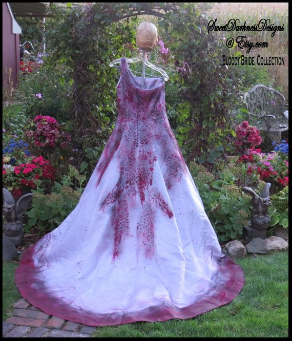 VAMPIRE COSTUME Bloody Zombie Bride Tim by SweetDarknessDesigns