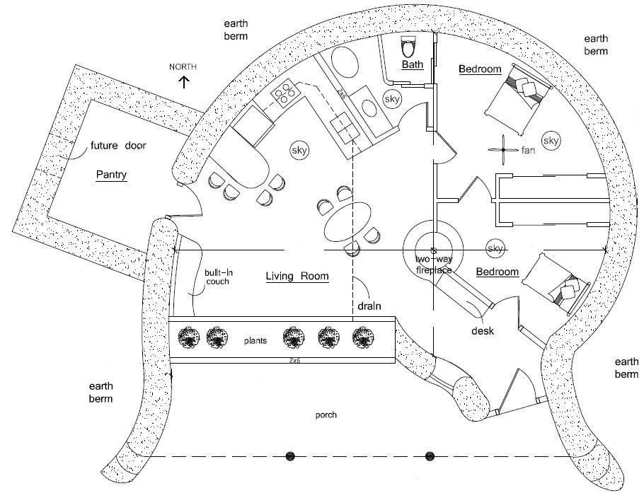 large earthbag house plans. sand bag house construction  Spiral 2 Earthbag House Plans Sand and Construction